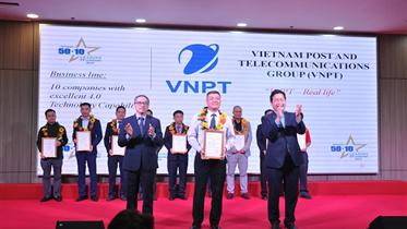VNPT ĐƯỢC VINH DANH TOP 10 DOANH NGHIỆP CÓ NĂNG LỰC CÔNG NGHỆ 4.0 TIÊU BIỂU TẠI VIỆT NAM NĂM 2019